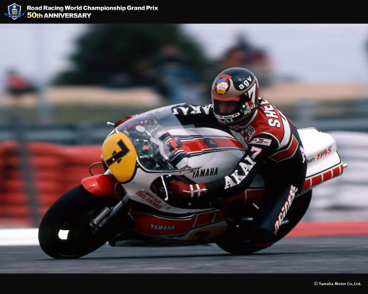 #4 EDDIE LAWSON MOTORCYCLE POSTER GRAND PRIX RACING PRINT NEW