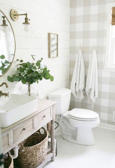 Wall Paper Devine Color Buffalo Plaid Peel Stick Wallpaper Target Bathroom Inspiration Modern Farmhouse Bathroom Cottage Bathroom