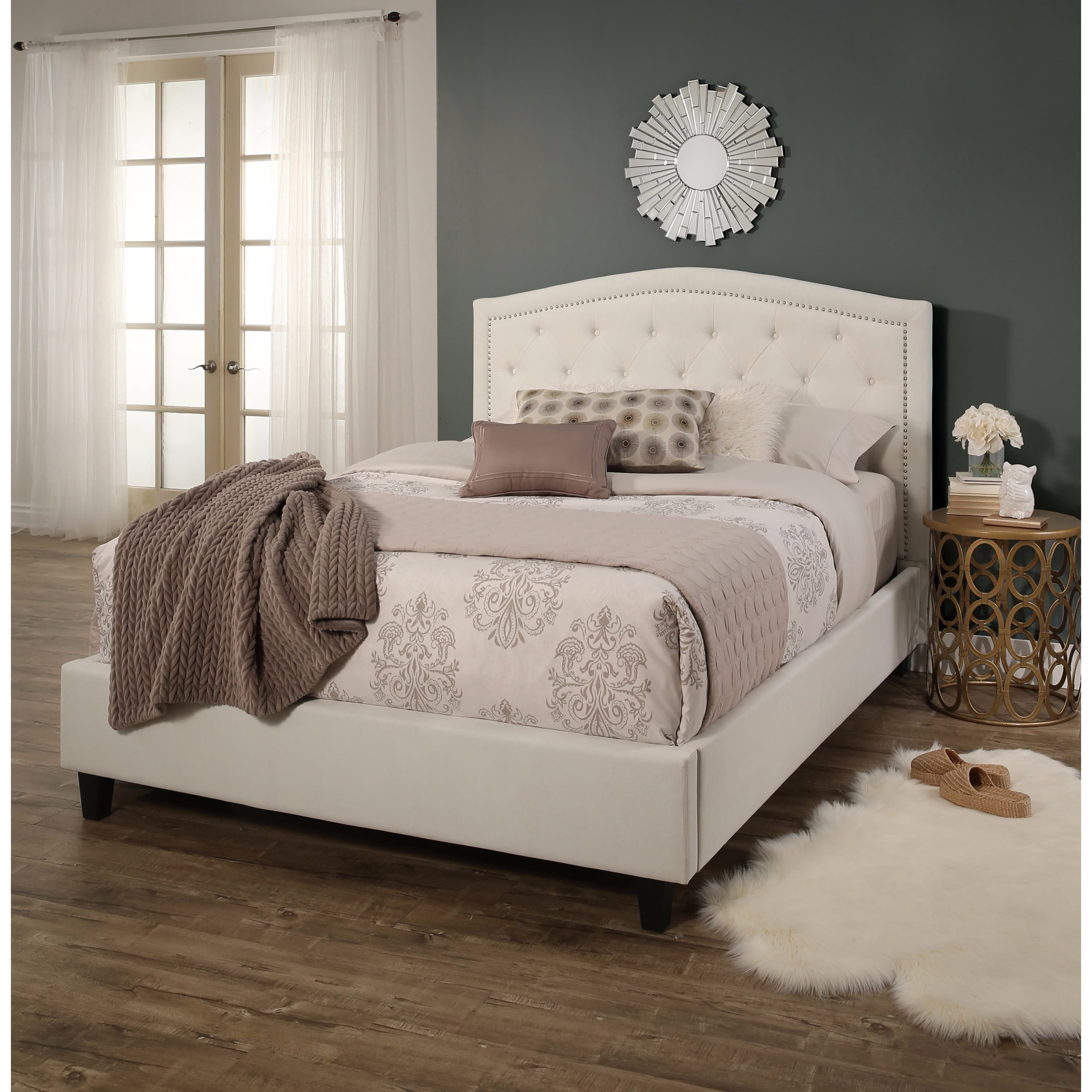 abbyson hampton tufted upholstery platform bed overstock com