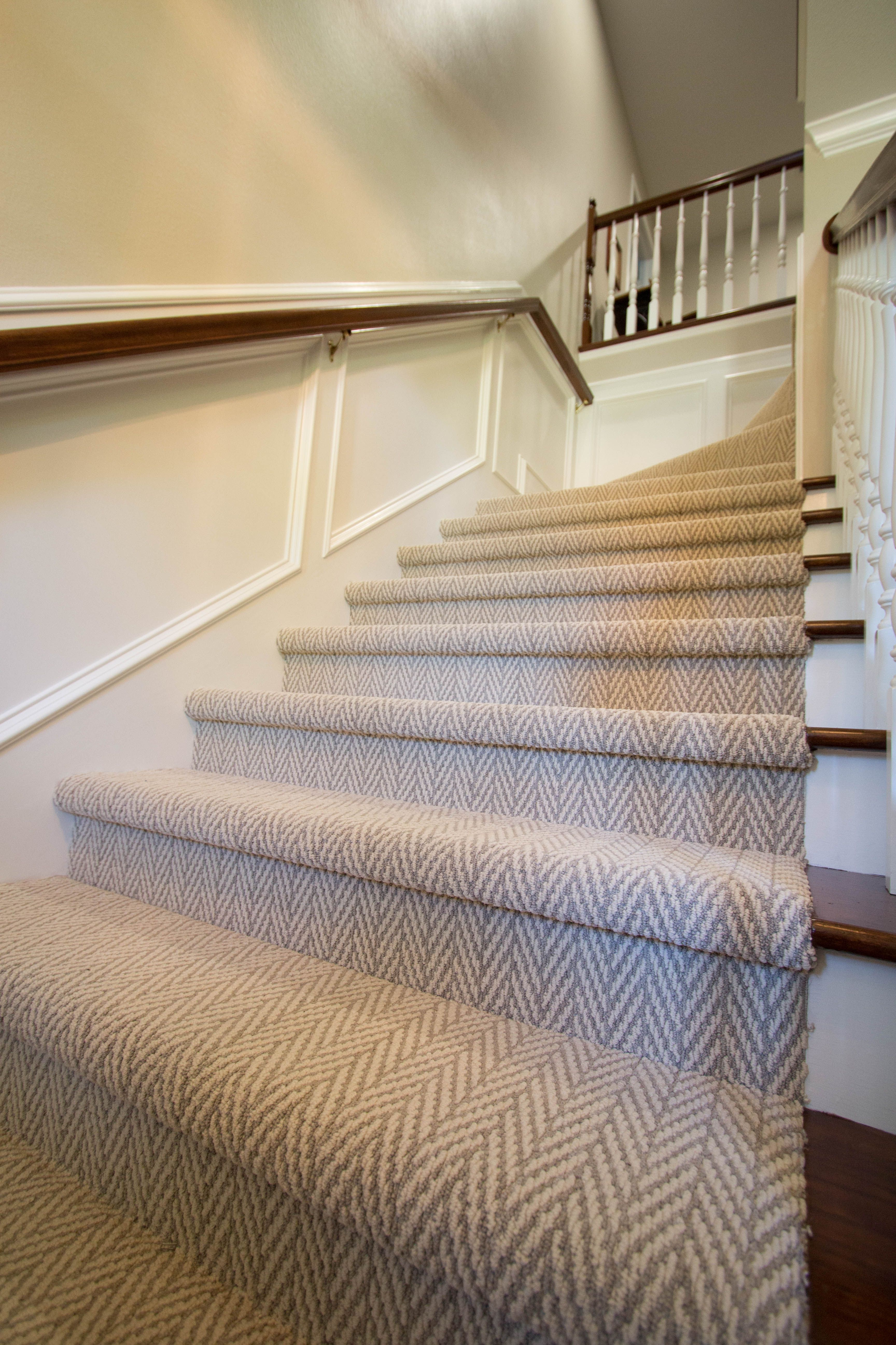 Best Traditional Stairs With Herringbone Carpet By Studio B 400 x 300