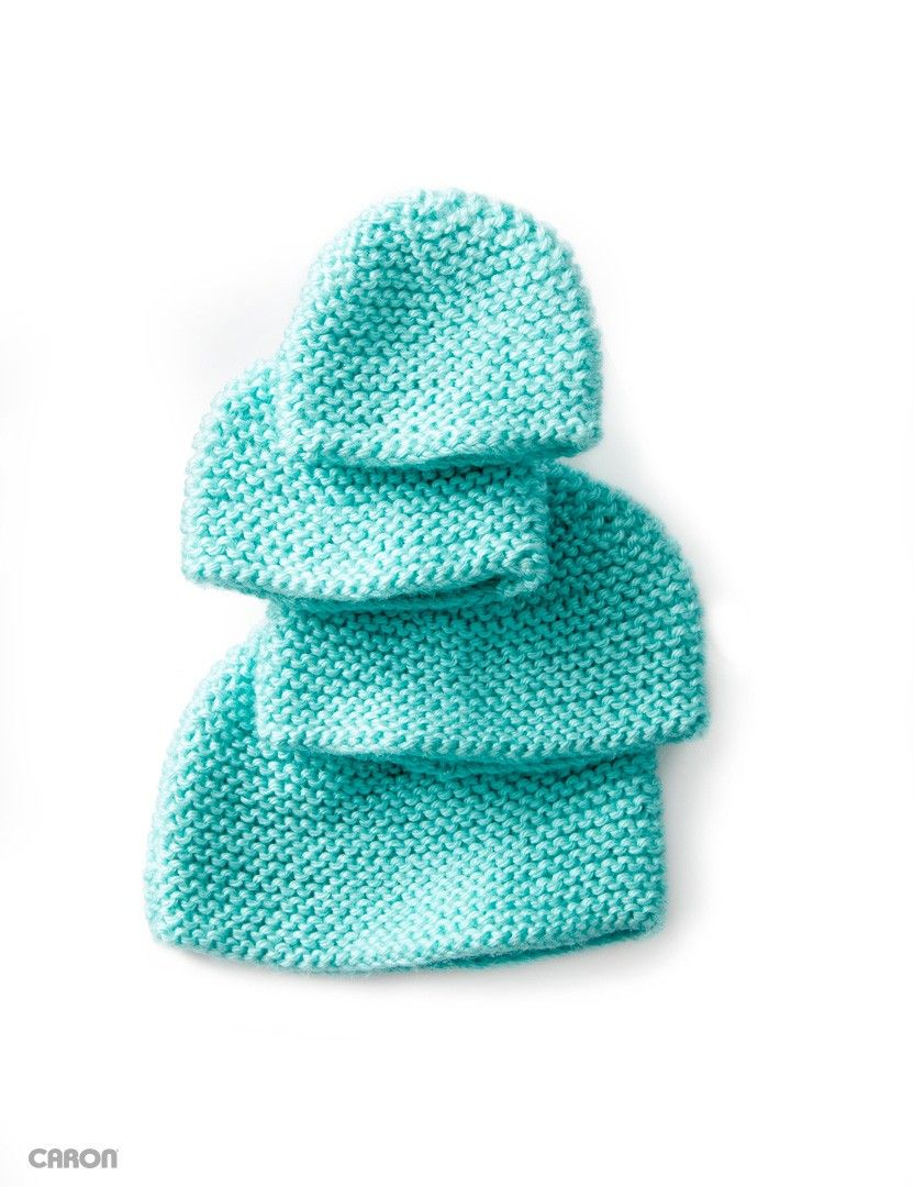 Mini garter stitch cap cute baby 1 knitted hats booties etc buy free pattern caron mini garter stitch knit cap from the crochet patterns range at hobbycraft bankloansurffo Image collections