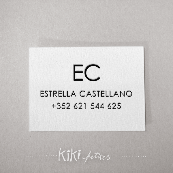Kikisoso letterpress business cards calling cards estrella beautiful letterpress paper goods hand printed with our antique press on eco friendly papers we are a design letterpress studio reheart Choice Image