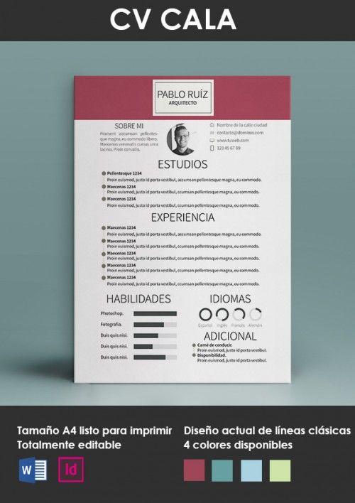 Currículum vitae modelo Cala portada … | Pinteres…