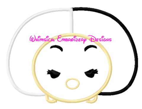 Curella DeVille Tsum TsumMachine Embroidery Applique Design INSTANT DOWNLOAD