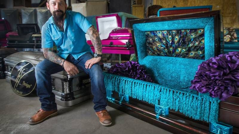He is so talented, love this casket. Casket, Funeral