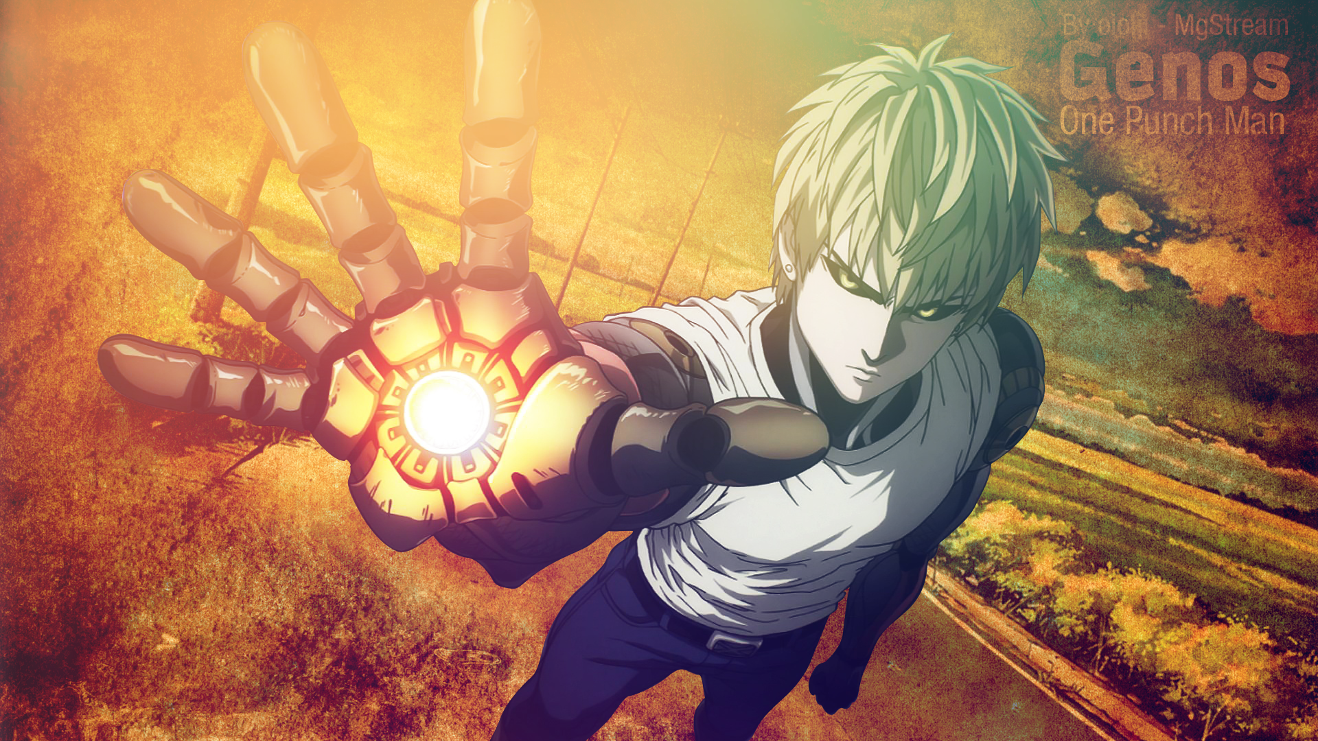 Anime One Punch Man Genos One Punch Man Wallpaper Com Imagens