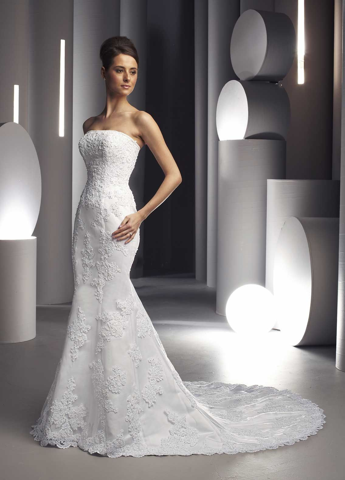 Aimee 73 Strapless Lace Mermaid Wedding Gowns Under 300 Lace Over