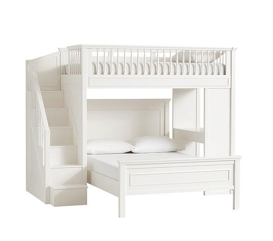 Fillmore Stair Loft Bunk Beds With Stairs Bed For Girls Room