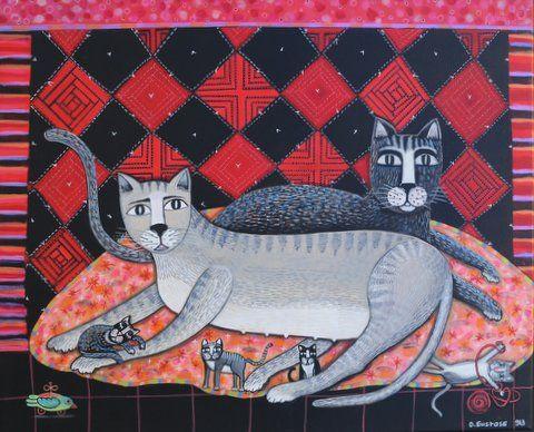 chats au patchwork   2013   (site  dominiqueeustase.com)