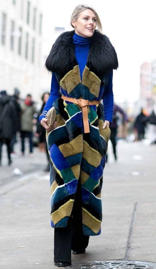 now that's a freakin fur! Sofie in NYC. #Fashionata