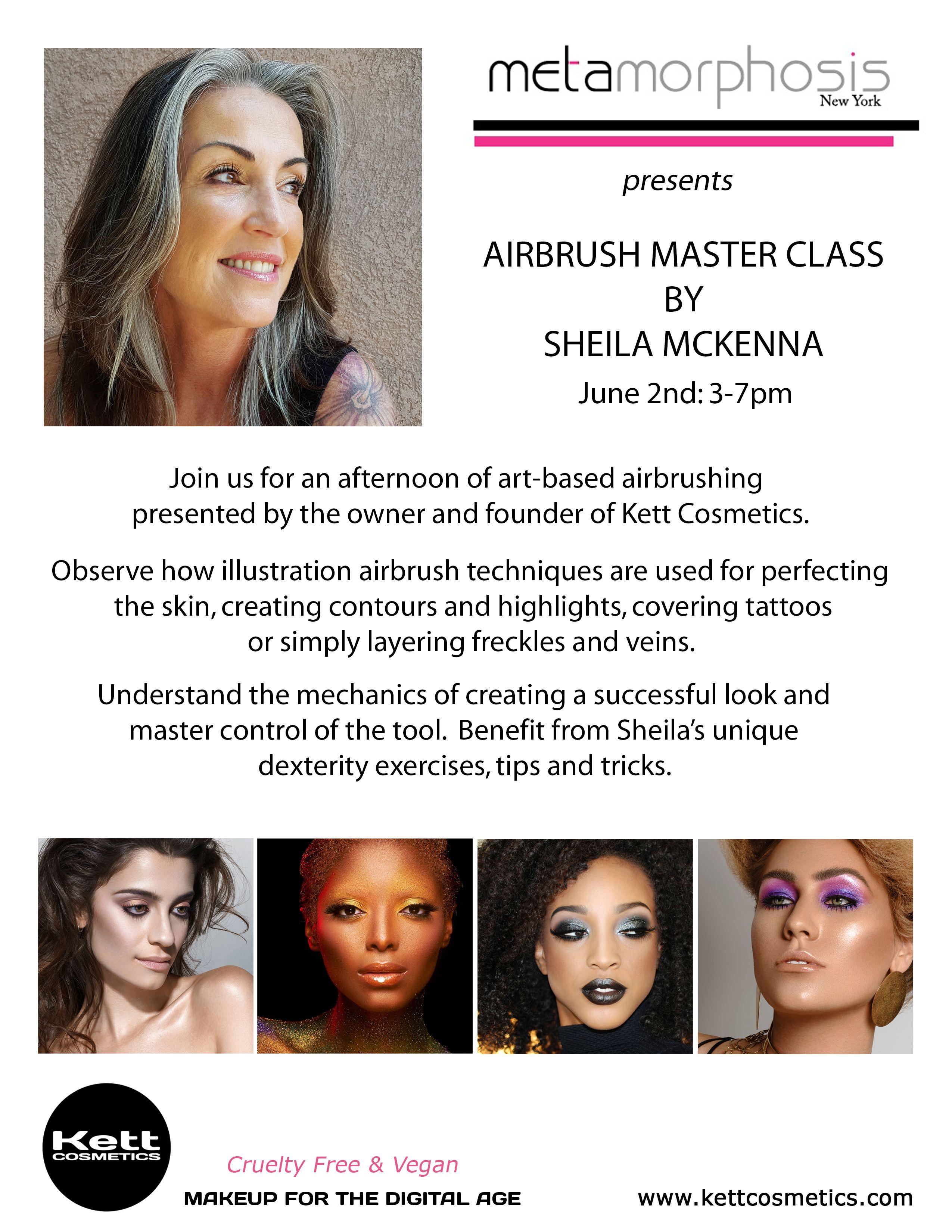 Airbrush Master Class At Metamorphosis Makeup Class Makeup Workshop Contouring And Highlighting