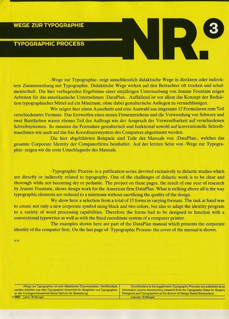 Typographic Process: NR. 3