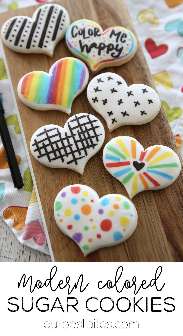 The Easiest Sugar Cookie Decorating Method Easy Sugar Cookies Cookie Decorating Valentine Cookies