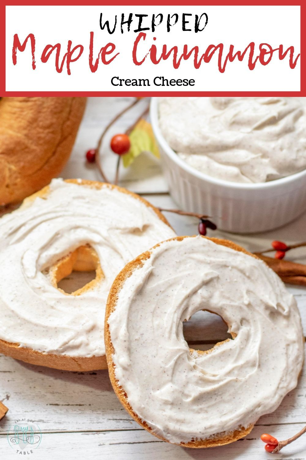 Whipped Maple Cinnamon Cream Cheese is perfect for