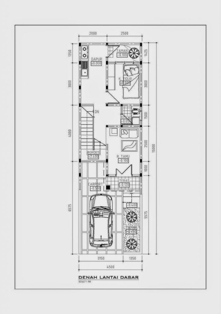 Desain Rumah Minimalis Lebar 5 Meter  pin di denah rumah lebar 5 meter