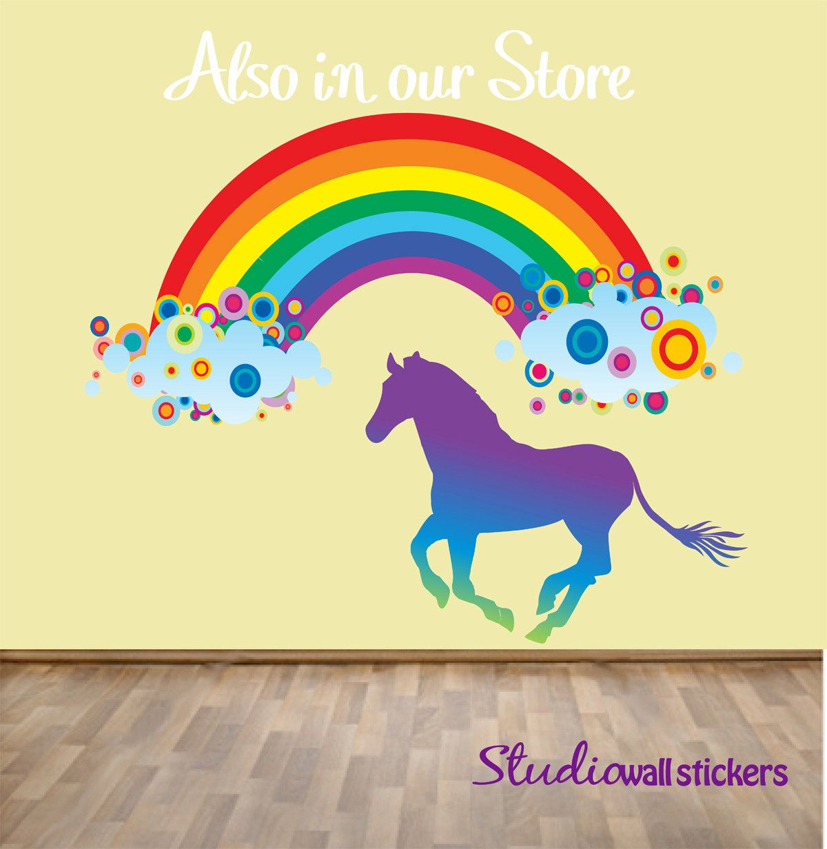 Wall Sticker · Reusable Rainbow Wall Decal ...