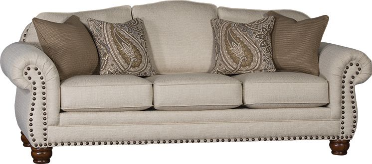 Mayo Furniture 3180f Fabric Sofa Sugarshack Almond