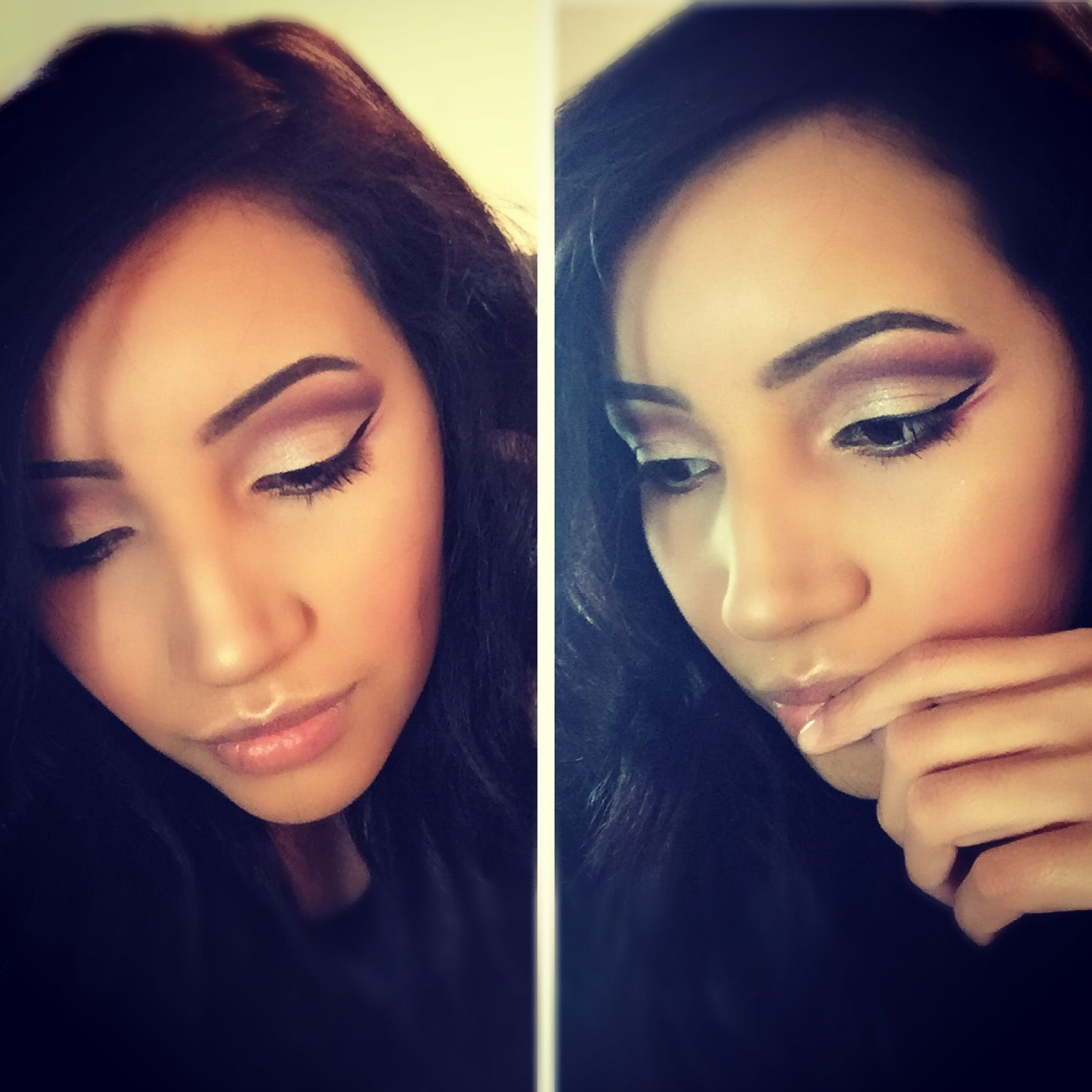 Purple Cut crease makeup @mua_jakki on Instagram