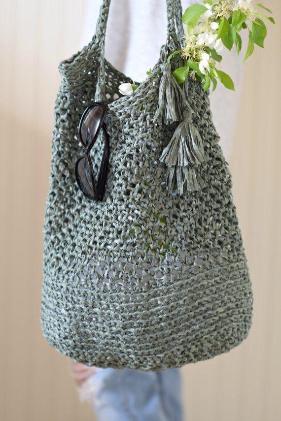 Crocheted Market Tote Pattern Easy Bag Pattern Palmetto Market