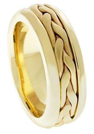Braided Wedding Band Ring In 14k Gold Braided Wedding Band Mens Gold Wedding Band Wedding Ring Bands