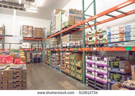 HOUSTON, US - NOV 8, 2016: Fresh produce refrigerated room in a