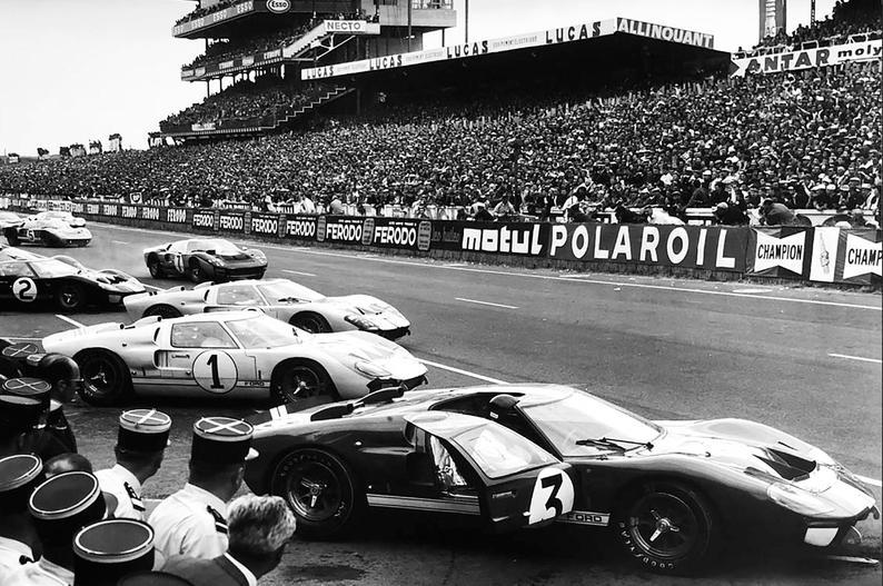 Affiche 24h Du Mans 1966 Ford Vs Ferrari Le Mans Ferrari Man