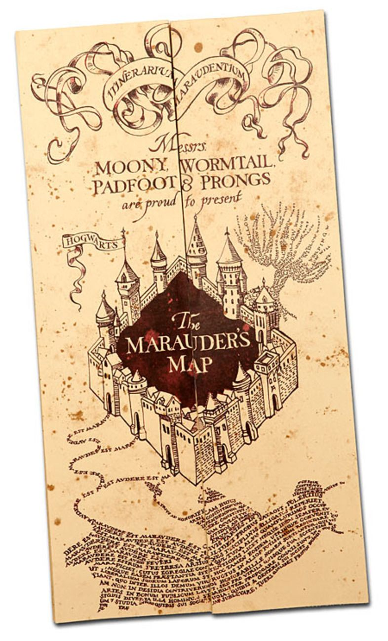 How To Make A Marauder S Map Party Version Harry Potter