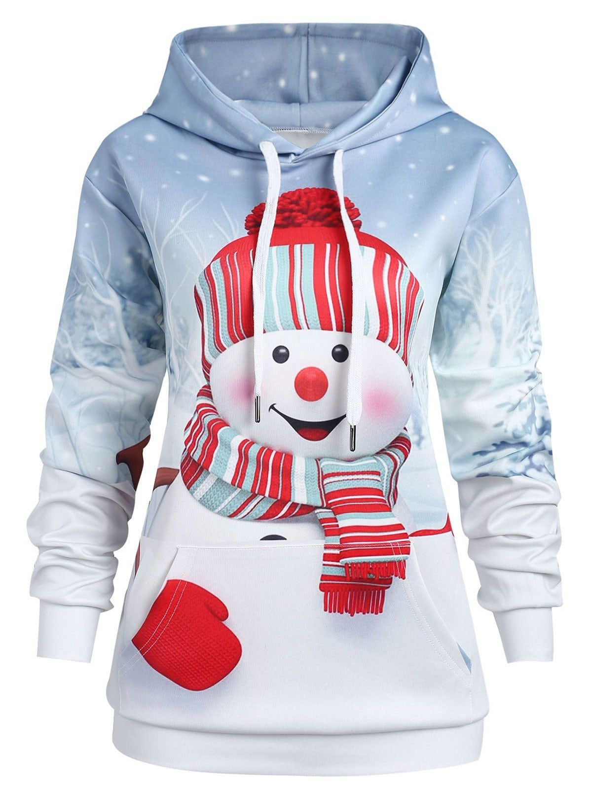 af4a082a8b Christmas Snowman Plus Size Hoodie For a Merry Christmas Rosegal Christmas  Special Sale Code: RGBF1 Get 25% OFF