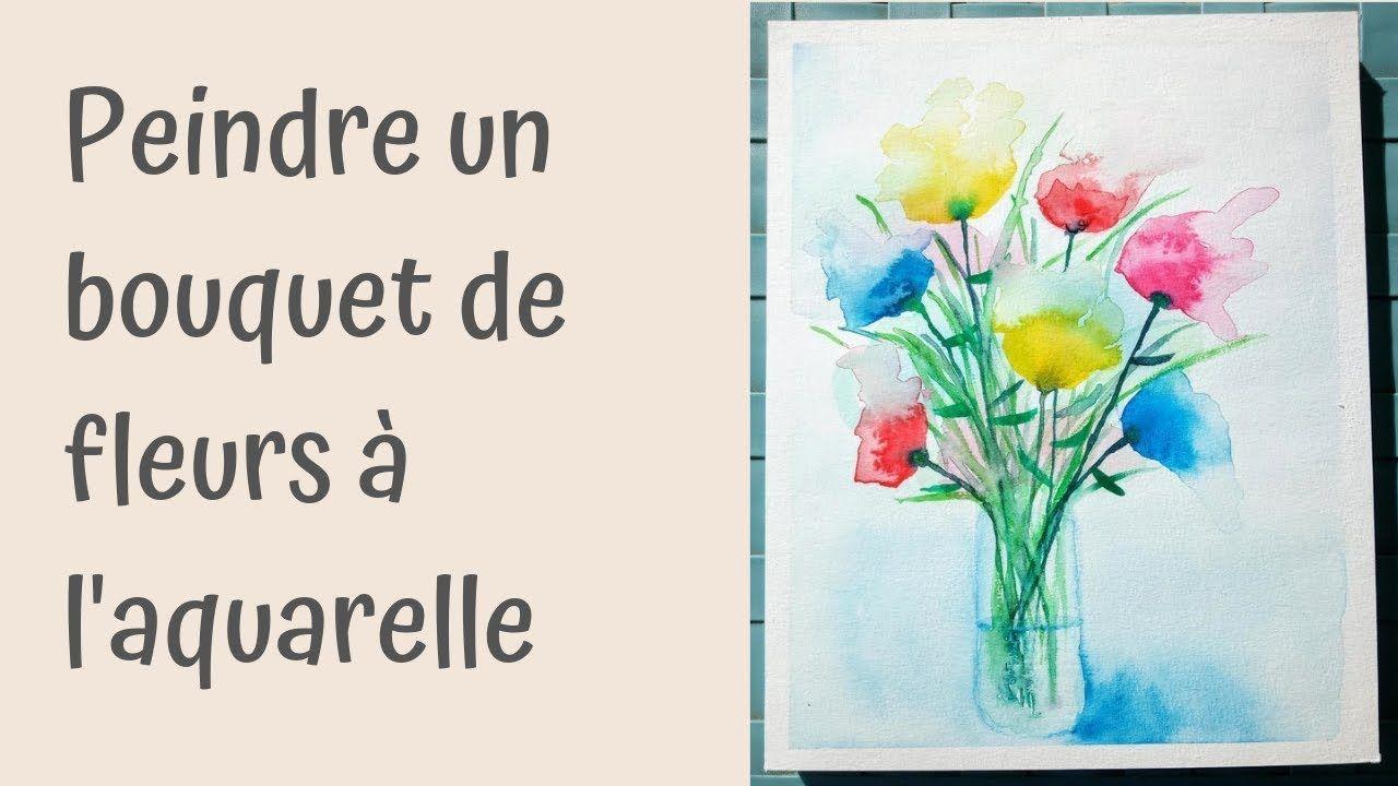 Un Bouquet De Fleurs Colore Et Abstrait A L Aquarelle Fleurs