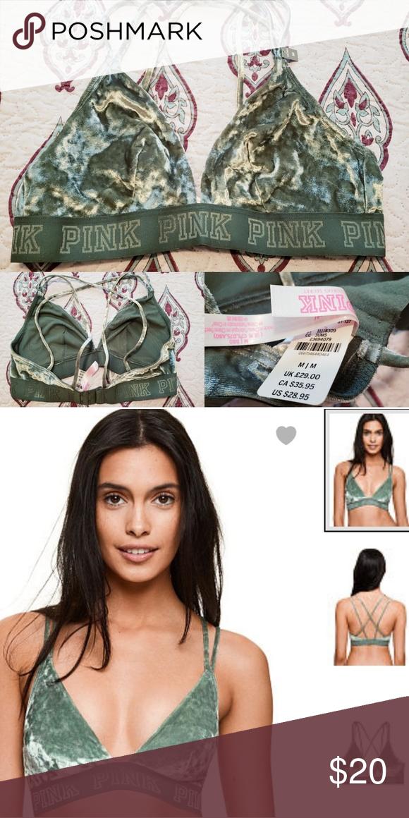 3207744c08 VS PINK velvet bra NWT PINK Victoria s Secret Intimates   Sleepwear Bras