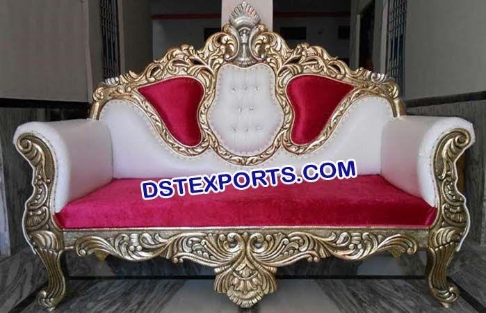 Wedding Designer Carved Red Sofa Dstexports In 2020 Brass