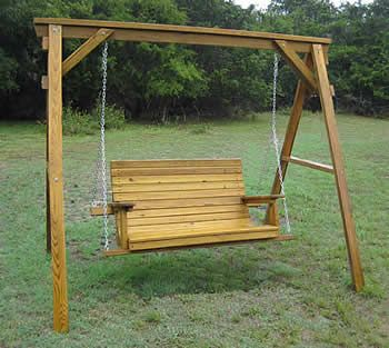 Outdoor Swing Frames | Porch Swings Made By Quality Patio Furniture    Handcrafted By Jack .