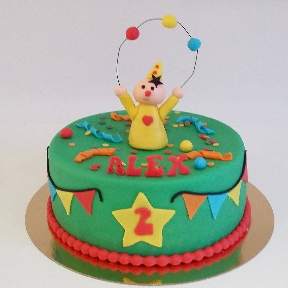 birthday fondant cake bumba green 2 year old boy