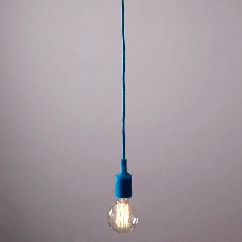 Contemporary Navy Blue Designer Ceiling Suspension Rose X2f Braided Flex Lamp Holder Pendant Light F Pendant Light Fitting Blue Pendant Light Light Fittings
