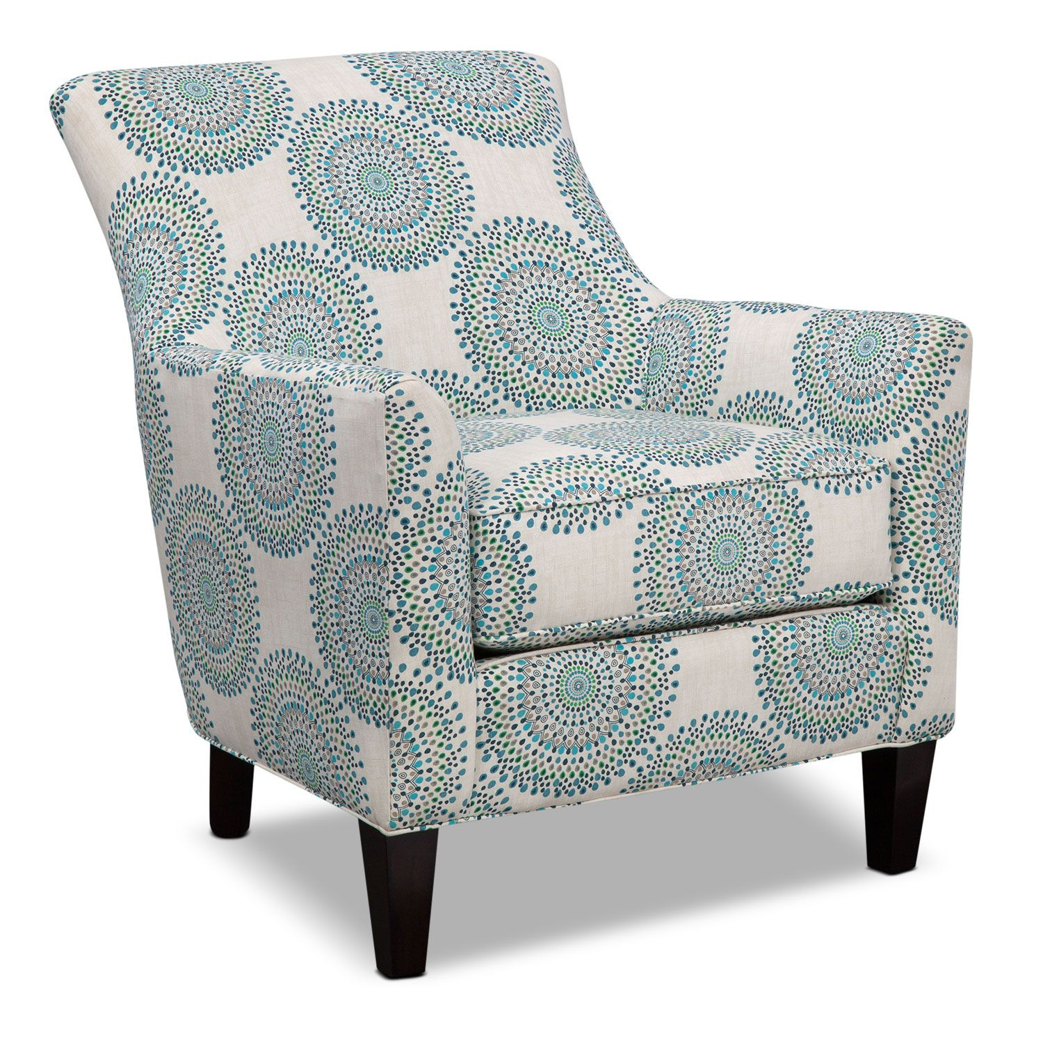 Best Lively Lounging The Lively Pattern And Delightful Colors Of The Rachel Carousel Accent … Blue 400 x 300