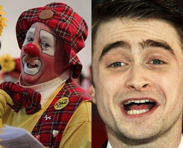 Harry Potter star Daniel Radcliffe is afraid of clowns. More strange celeb phobias: http://dspy.me/Hzs4hH