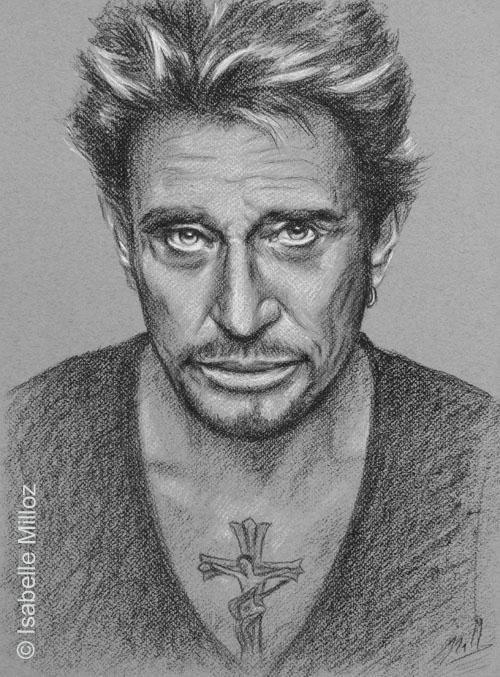 Johnny Hallyday Par Isam Celebrities Art Portraits Pencil