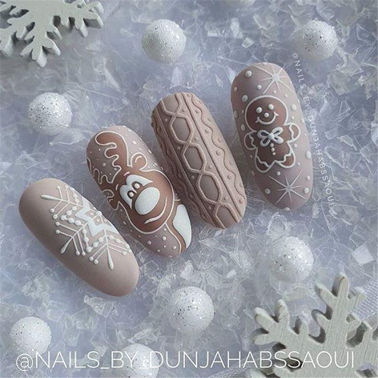 More Than 150 More Fashionable Nail Design Ideas You Deserve Page 9 Of 151 Inspiration Diary Christmas Nails Xmas Nail Art Nail Designs