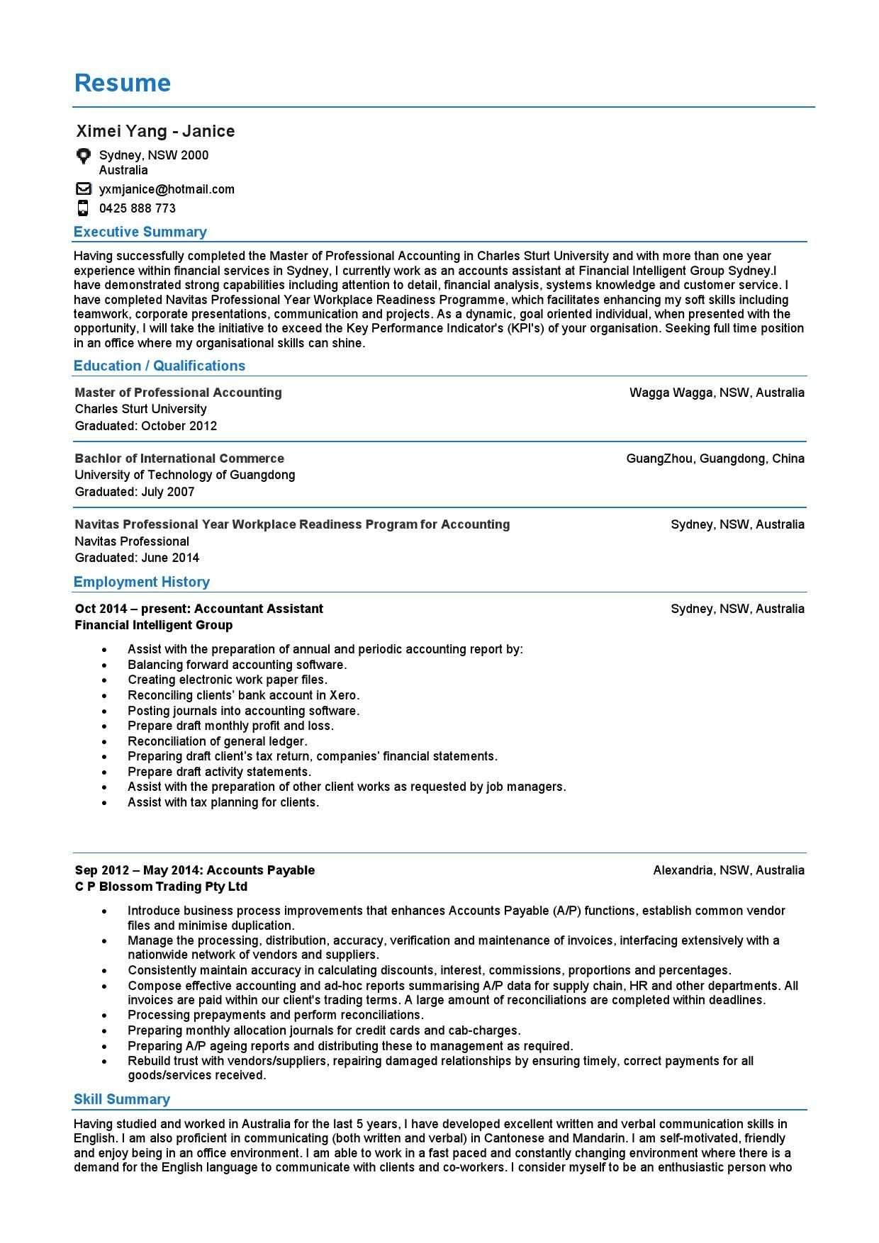 Accounts Payable Resume Sample  HttpExampleresumecvOrgAccounts