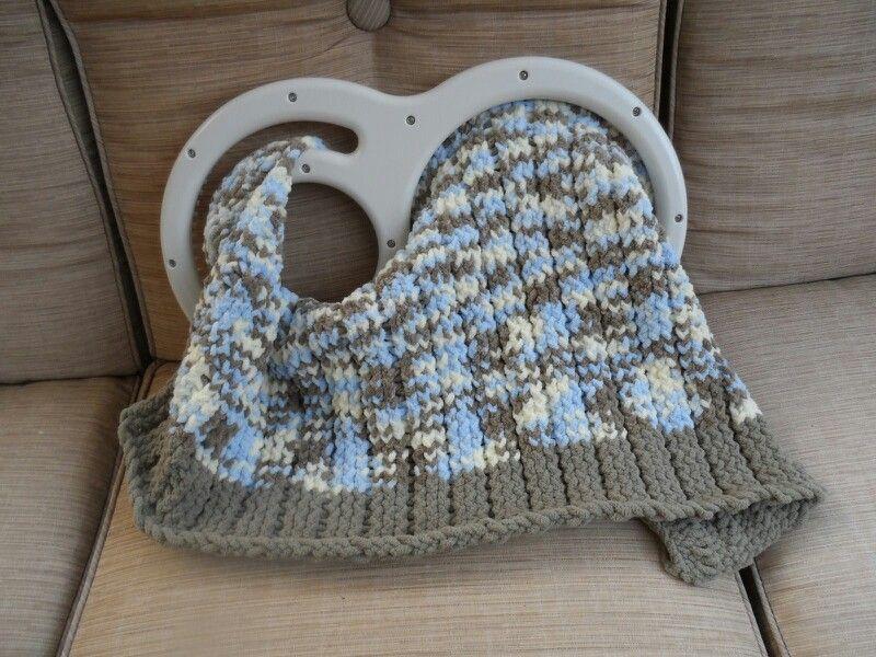 Loomed Baby Blanket Kb Afghan Blanket Loom De By Haley Mills