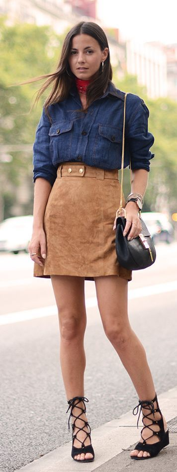 Craving Suede Outfit Idea by Fashionvibe