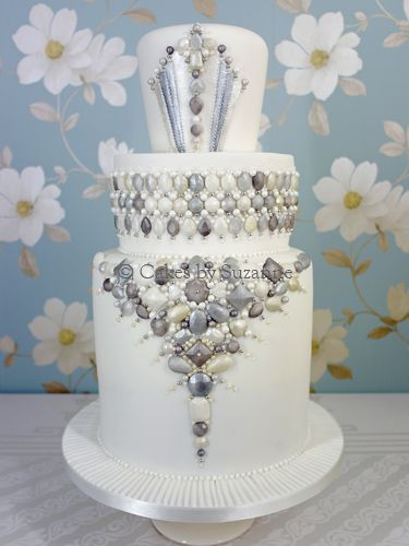 Cakes By Suzanne Wedding With Jewels And Hearts