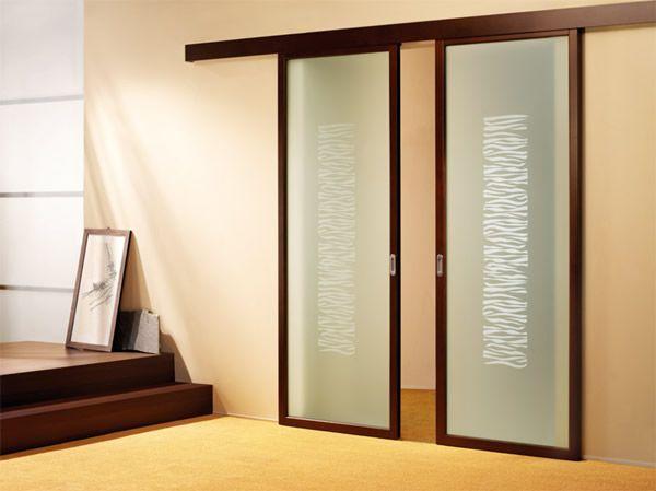sliding indoor doors | ... Sliding Glass Door in Minimalist House ...