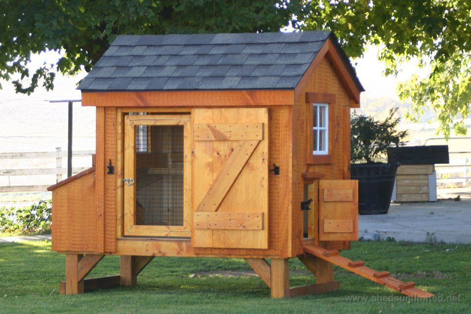 Amish chicken coops 10 e8006 3x5 hen house coop for 8 for Chicken coop for 8 10 chickens