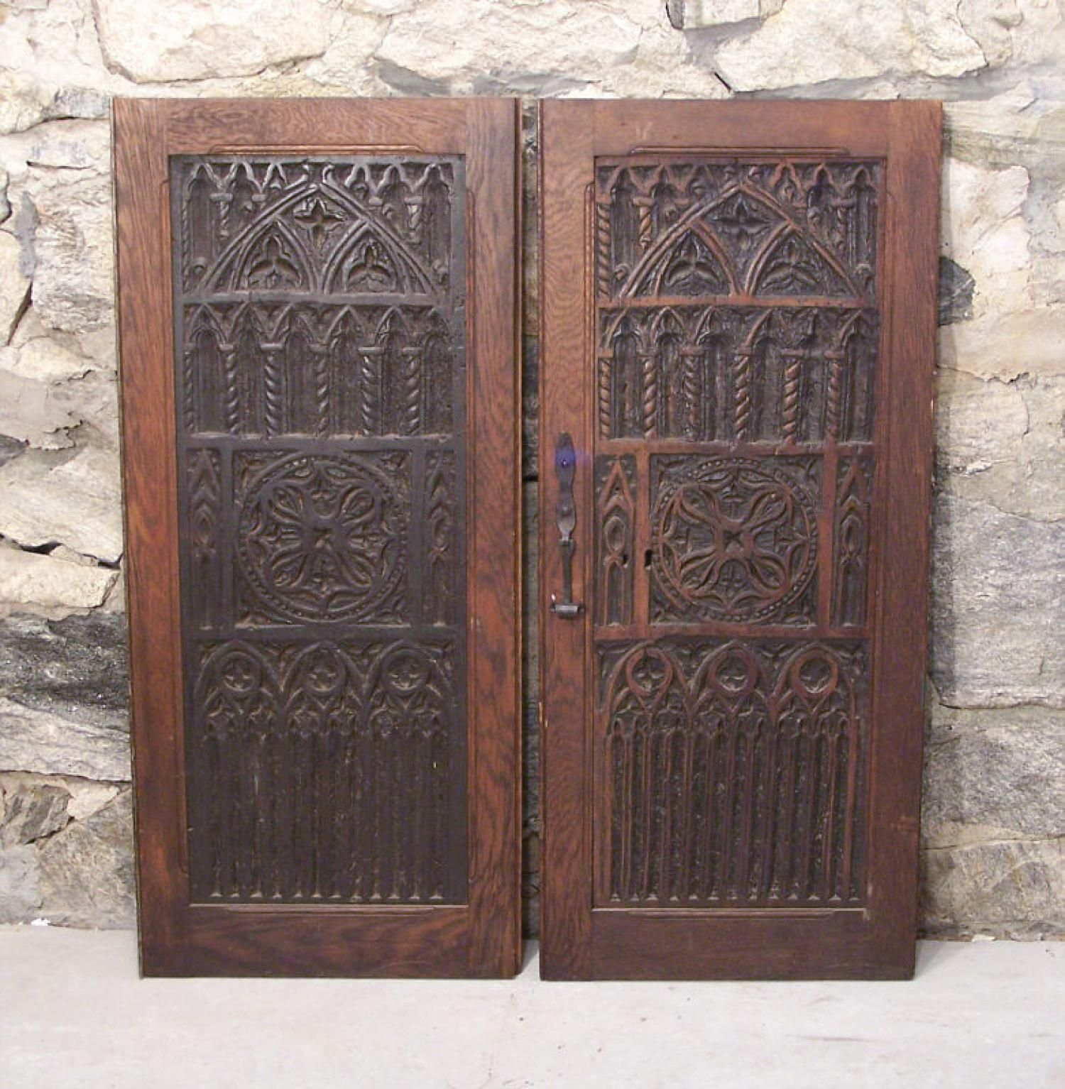 Pair 16th Century Renaissance Carved Wood Door Panels Wood Doors Interior Wood Doors Wood Windows