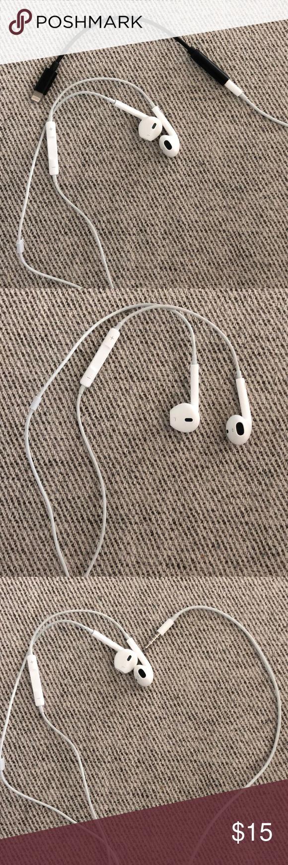 Apple Earpods 3 5 Mm Headphone Plug W New Adapter In 2020 Headphone Apple Headphone Plugs