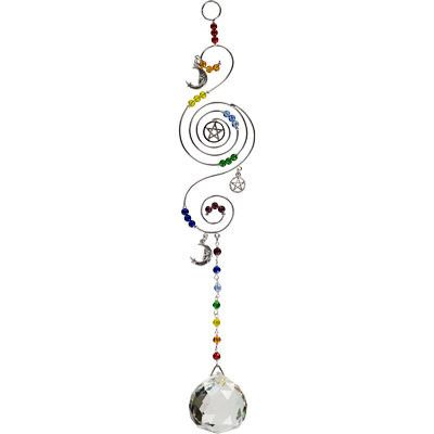 Celestial Crystal and Pentacle Home Talisman w/Chakra Crystals