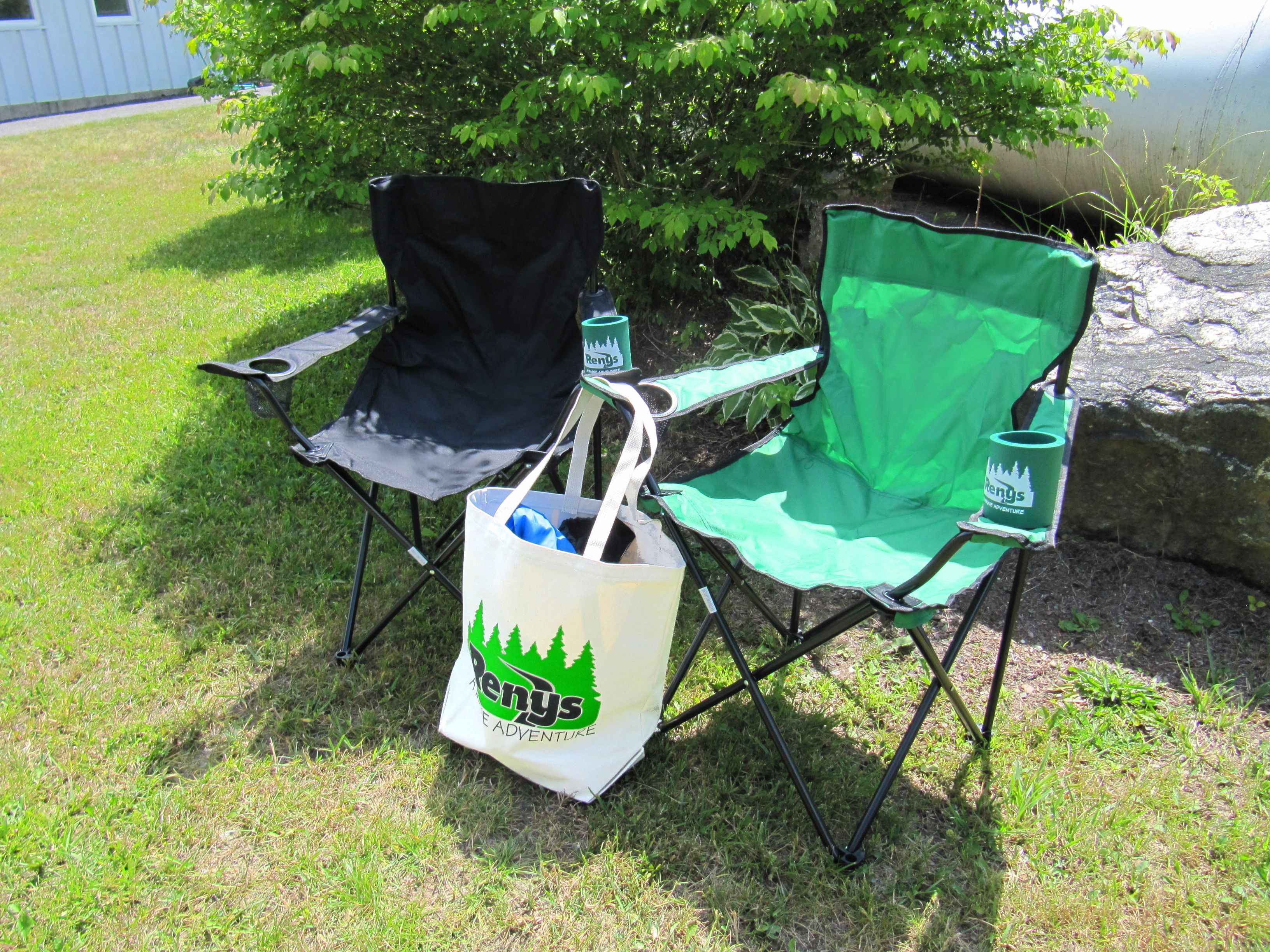 Renys Lawn Chairs Tote Bag And Can Coolers The Perfect