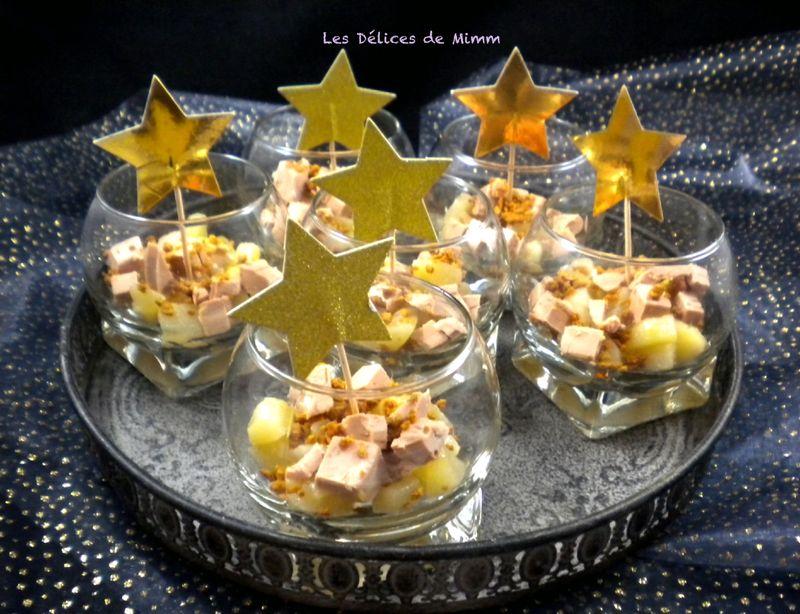 Verrines de foie gras aux poires caramélisées - Les Délices de Mimm