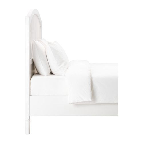 Tyssedal Bed Frame White Lonset Queen Ikea In 2020 Ikea Bed Ikea Bed Frames Buy Bed Frame